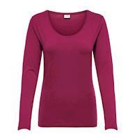 Ava ls red plum top, JDY