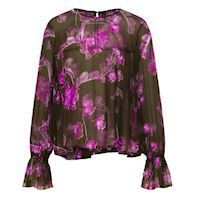 Sweetpea forest night blouse, YAS