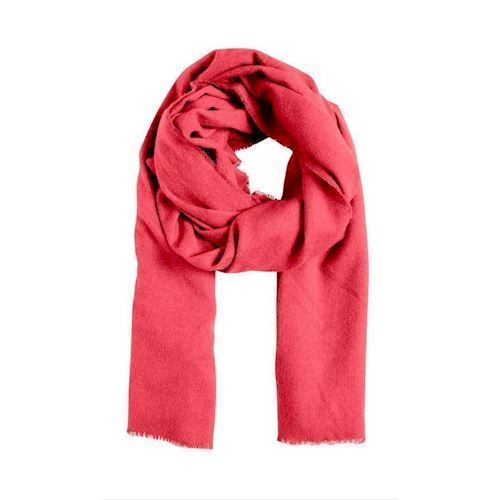 Kelly red ochre scarf, ICHI