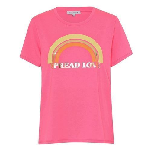 Continue Rainbow T-shirt, Neon Pink