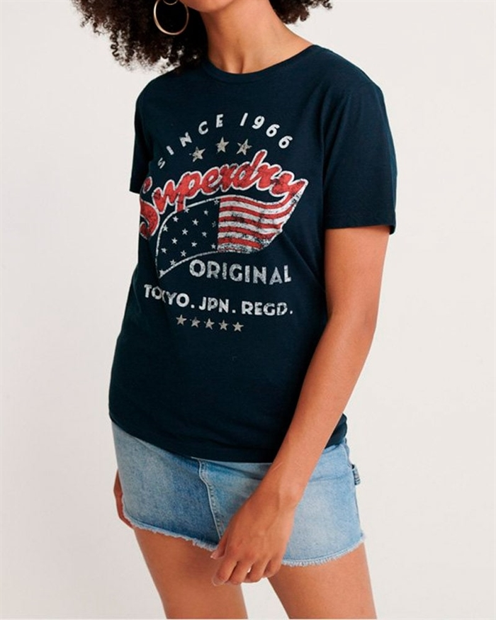 Superdry American Star Entry T-shirt Navy