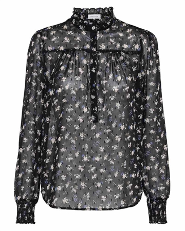 Continue Cph Asta Bluse Black Flower