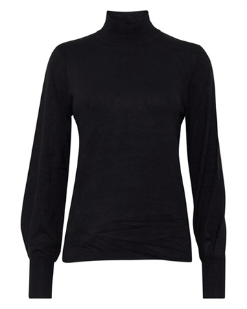 ICHI Mafa Turtleneck Bluse Sort