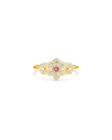 Id Fine Magnolia Ring Guld/Pink