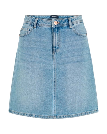 Pieces Lou Denim Nederdel Light Blue Denim