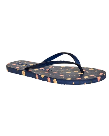 Superdry Sleek Flipflop Navy m. Blomst