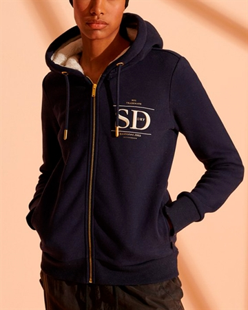Superdry Established Zip Hoodie Navy