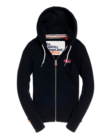 Superdry Orange Label Ziphood Navy m. Pink