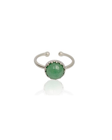 Zefina Green Pihu Ring Sølv