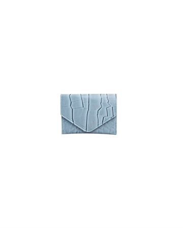 Hvisk Wallet Croco Dusty Blue