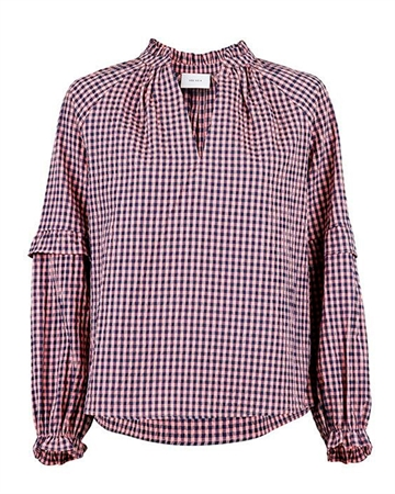 Neo Noir Willow Check Bluse Rosa