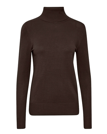 Saint Tropez Mila Rollneck Pullover Chocolate Brown