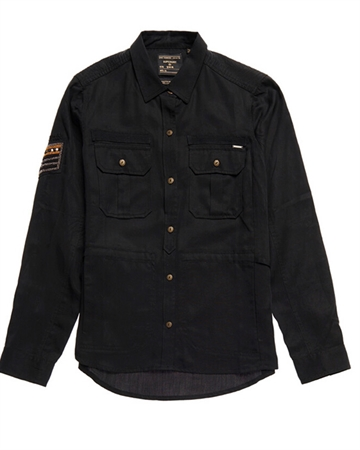 Superdry Military Pocket Shirt Sort