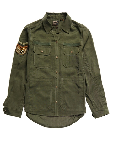 Superdry Military Pocket Shirt Army