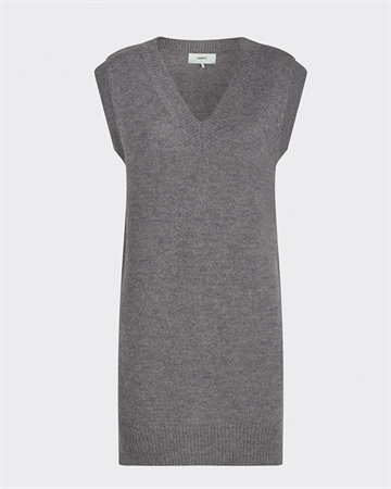 Moves Paja Strik Vest Grey Melange
