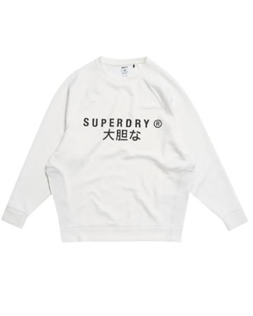 Training Graphic Oversize Sweatshirt Crew Hvid