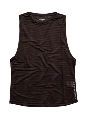 Superdry Sport Training Mesh Tank Top Sort