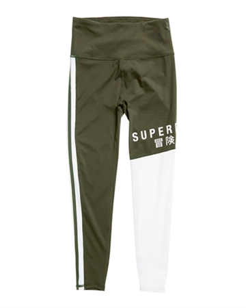 Superdry Sport Training Graphic 7/8 Leggings Khaki