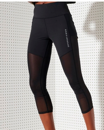 Superdry Sport Training Leggings Sort