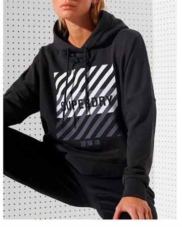 Superdry Sport Training Core Sport Crop Hood Sort