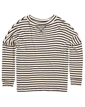 Superdry NYC Stripe LS Bluse Cream Stripe