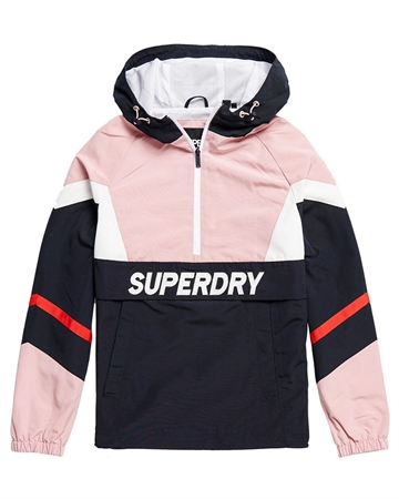 Superdry Colour Block Overhead Blå/Rosa