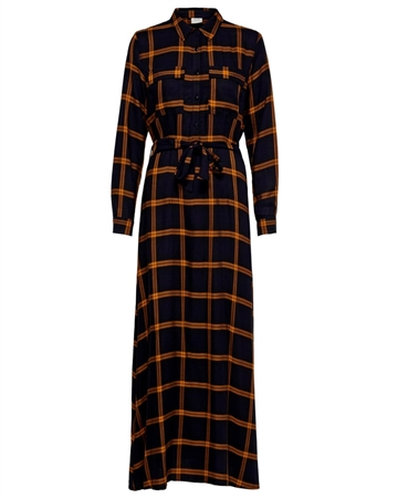 JACQUELINE de YONG Checky Kjole Navy m. Orange