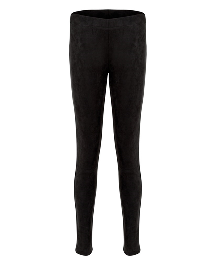 Neo Noir Hulu Suede Leggings Sort