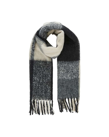 Pieces Bea Long Scarf Darkgrey