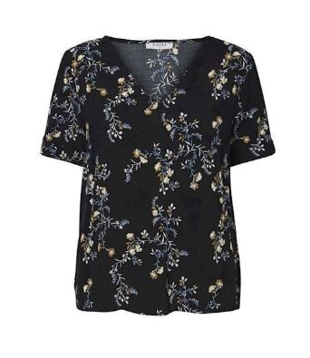 Pieces Beatrice Bluse, Sort