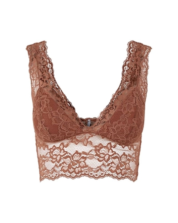 Pieces Lina Lace Bra Top Mocha