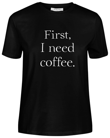 Pieces Coffee T-shirt Sort