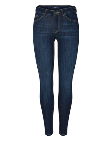 Pieces Delly Skinny Jeans Dark Blue Denim