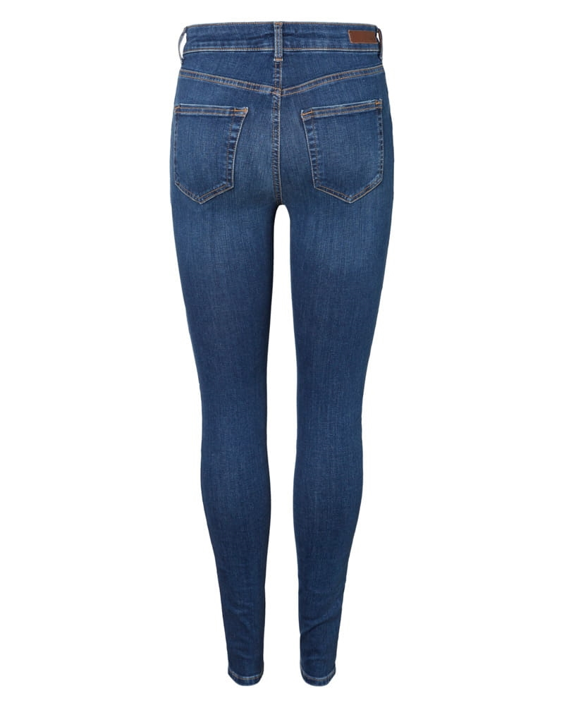 Pieces Delly Skinny Jeans Medium Blue Denim