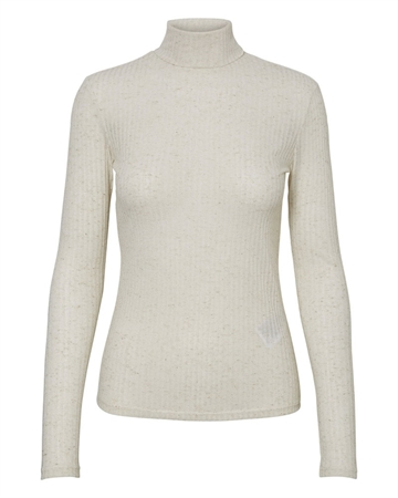 Pieces Hennie Rollneck Bluse Creme