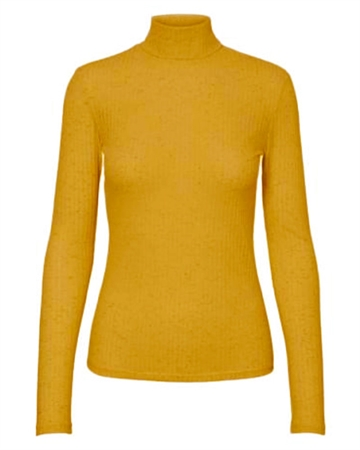 Pieces Hennie Rollneck Bluse Gul