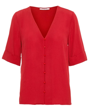 Pieces Hulla bluse Biking Red
