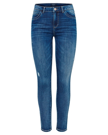 Pieces Jamie Ankel Jeans Blue Denim