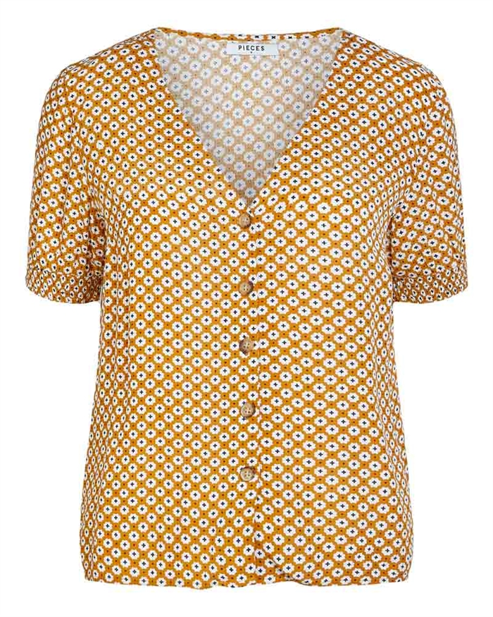 Pieces Katy Bluse Inga Gold