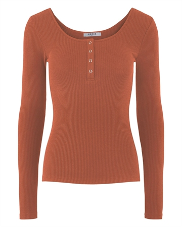 Pieces Kitte Bluse Lys Rust