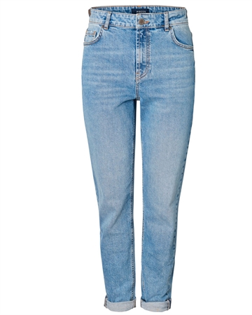 Pieces Leah Mom Highwaist Jeans Lyseblå