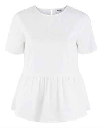 Pieces Mari Top Bright White
