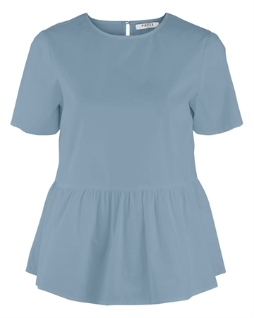 Pieces Mari Top Dusty Blue