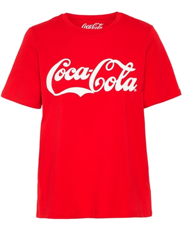 Pieces Soft Drink T-shirts Rød
