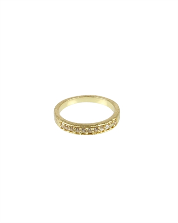 Pure by NAT Fingerring m. Zirconer Guld