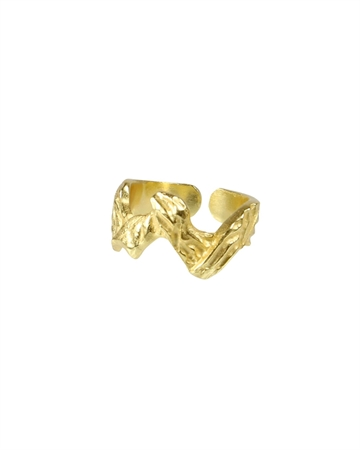 Pure by NAT Zig Zag Ring Guld