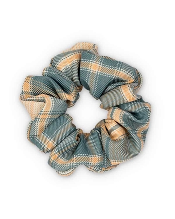 Sui Ava Ebba Check Scrunchie Grey