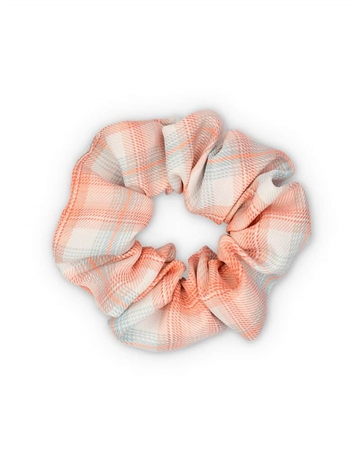 Sui Ava Ebba Check Scrunchie Peach