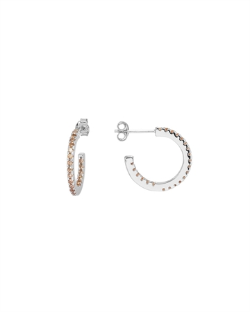 Sui Ava Eline Small Hoops Sølv Champagne