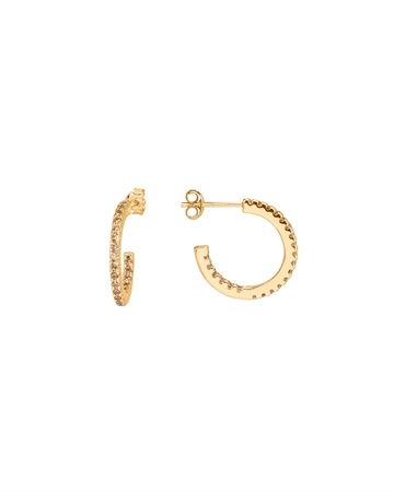 Sui Ava Eline Small Hoops Guld Champagne